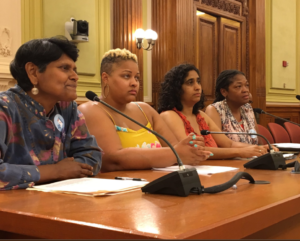 DC4D Chair Kesh Ladduwhetty testifies at DC Council in support of the Fair Elections Act on June 29